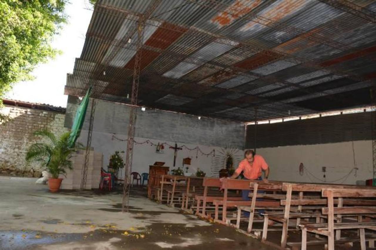 No cuentan con los fondos que requieren para reconstruir el templo. foto edh / CRISTIAN