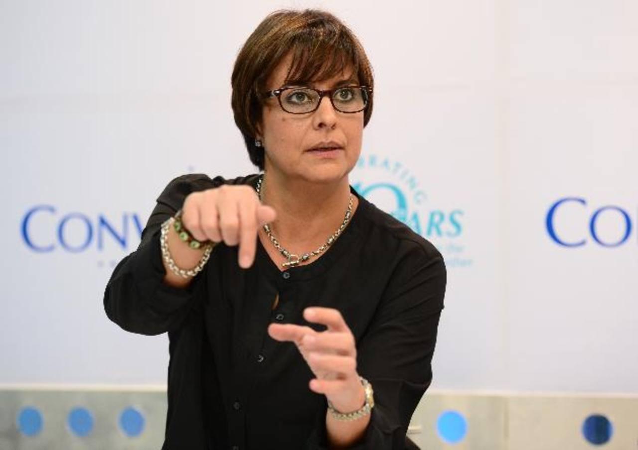 María Sagrera vicepresidenta de operaciones para Convergys Latinoamérica destacó los planes para 2015. Foto EDH/ Jorge Reyes