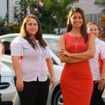 La iniciativa con la que Lorena González (al centro) espera romper esquemas, genera empleo para 16 mujeres. foto EDH / Cortesía