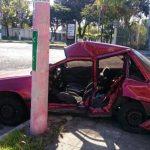 Dos lesionados tras accidente vial en San Salvador. /