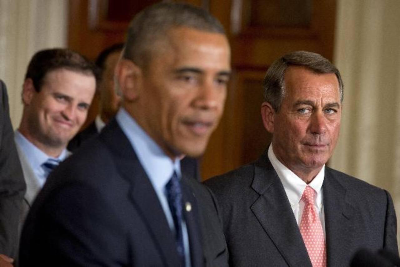 El presidente de los Estados Unidos, Barack Obama (Izq.), y el presidente de la Cámara de Representantes, el republicano John Boehner. foto edh / nbcnews.com