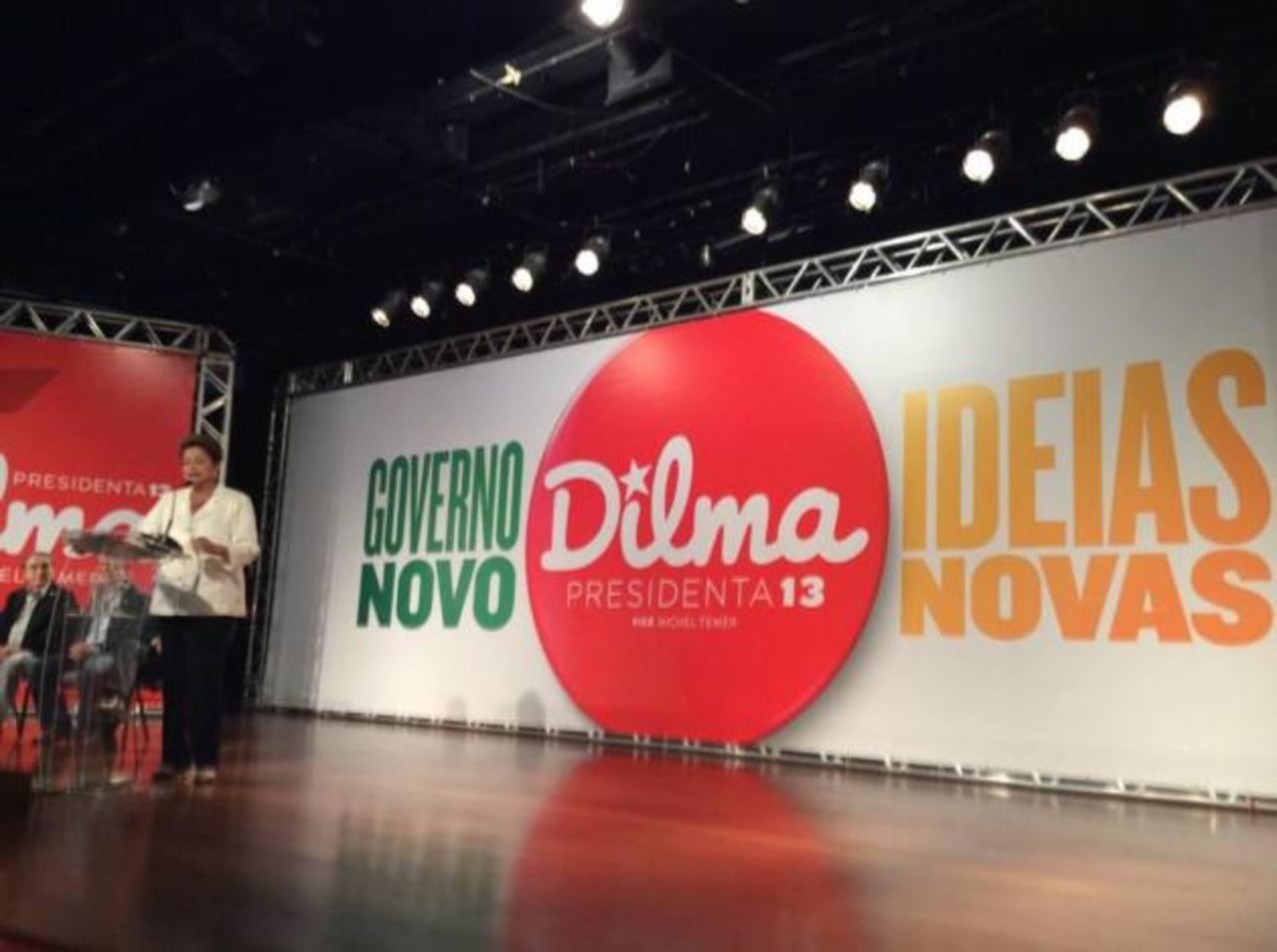 """La presidenta Rousseff, acorralada por el escándalo de corrupción, prometió en la campaña para su segundo mandato un """"Gobierno nuevo"""" con """"Nuevas ideas"""". foto edh / tomada de twitter.com/ptbrasil"""
