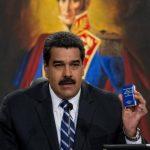Nicolás Maduro, durante rueda de prensa en el Palacio de Miraflores, Caracas.