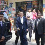 Ban Ki-moon en su visita al proyecto IVU. foto edh