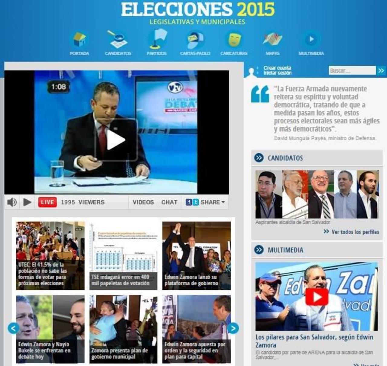 Imágenes del debate televisivo entre los contrincantes por la comuna capitalina que fue muy seguido en redes sociales y a través de elsalvador.com.
