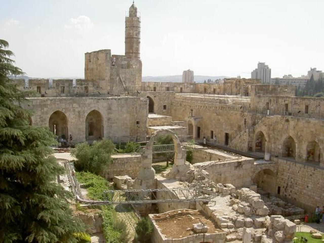 Imagen del Museo Torre de David, en la ciudad vieja de Jerusalén, en donde se realiza una ampliación.