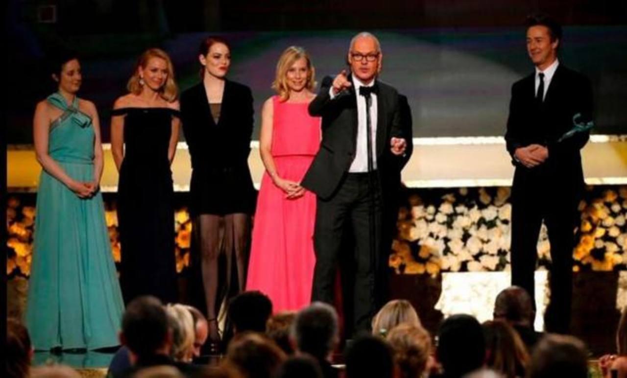 """El elenco de la película """"Birdman"""" agradeció el galardón a los miembros del sindicato de actores. foto EDH / Agencias y Redes"""