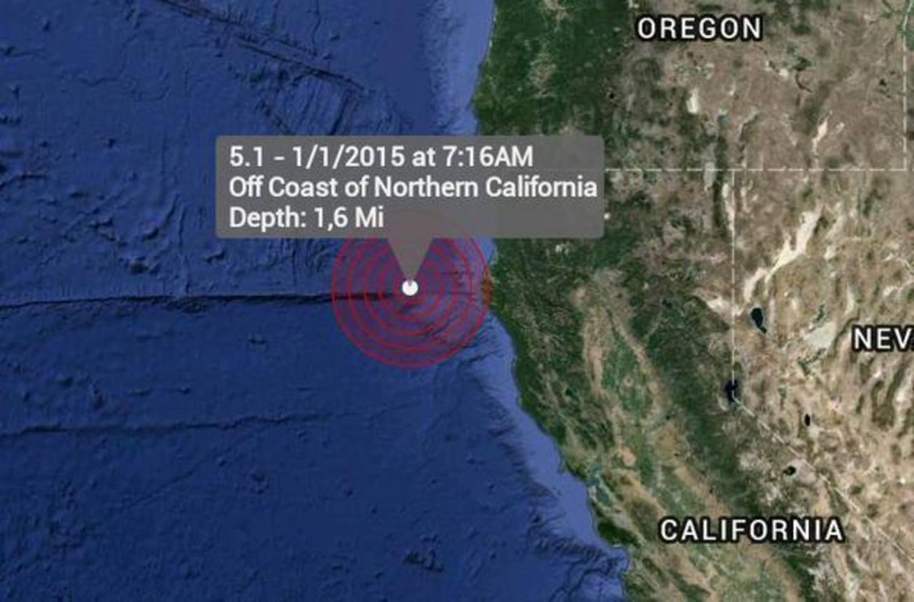 Sismo sacude la costa norte de California