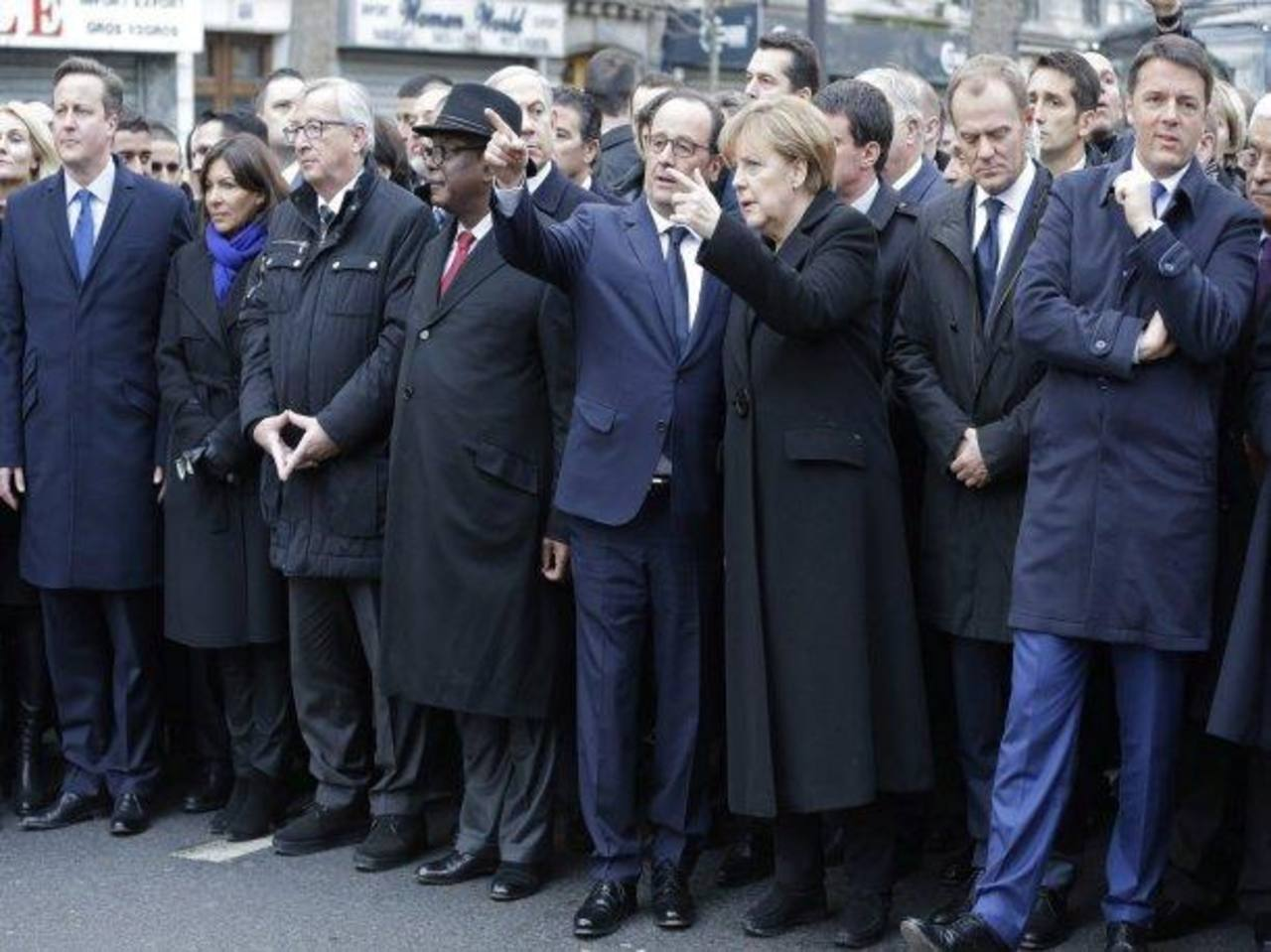 Multitudinaria manifestación en Francia contra el terrorismo