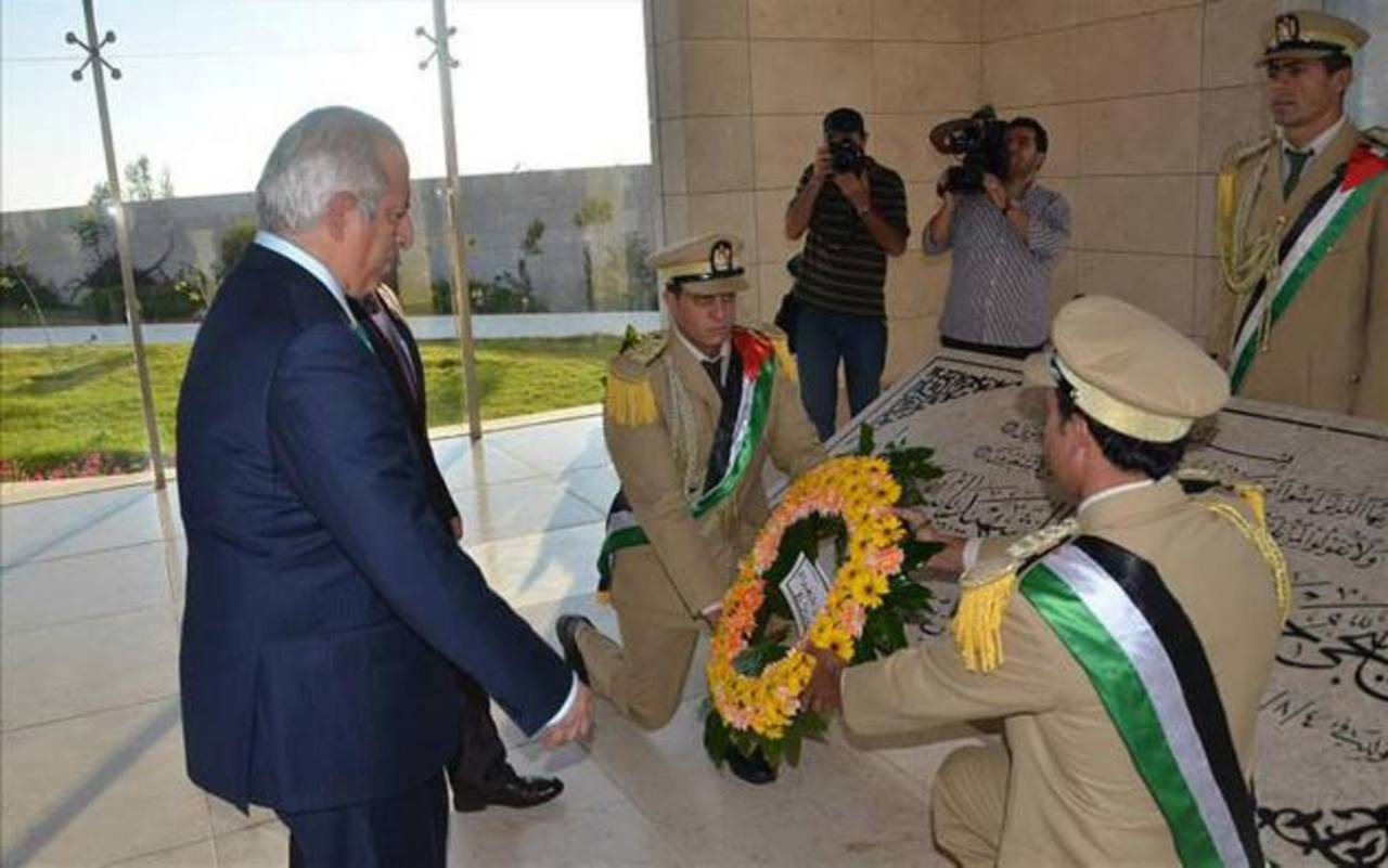 El presidente del Congreso, Sigfrido Reyes durante su viaje a Palestina. foto edh /archivo