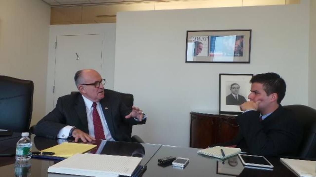 Giuliani pide voluntad política contra la criminalidad