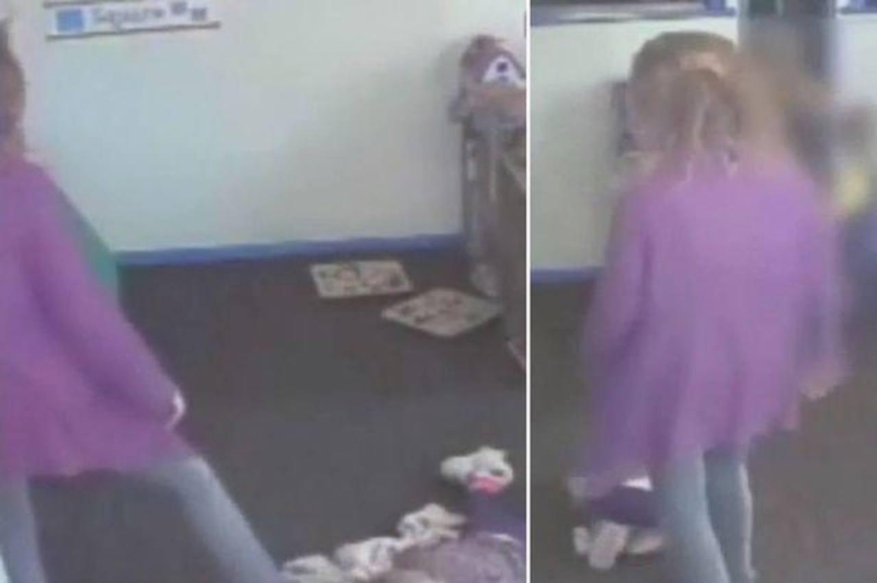 Captan en video a una mujer pateando a bebé en una guardería