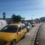 Tráfico vehicular sobre la Alameda Juan Pablo II Calle Concepción.