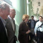 Los legisladores demócratas Patrick Leahy, Debbie Stabenow y Chris Van Hollen llegaron ayer a La Habana. Es la primera visita de funcionarios de EE. UU. desde el anuncio. foto edh / EFE