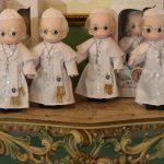 Muñecos del papa Francisco en venta en Manila, Filipinas.