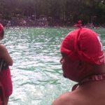 Socorristas de Cruz Roja vigilan en los balnearios del país.