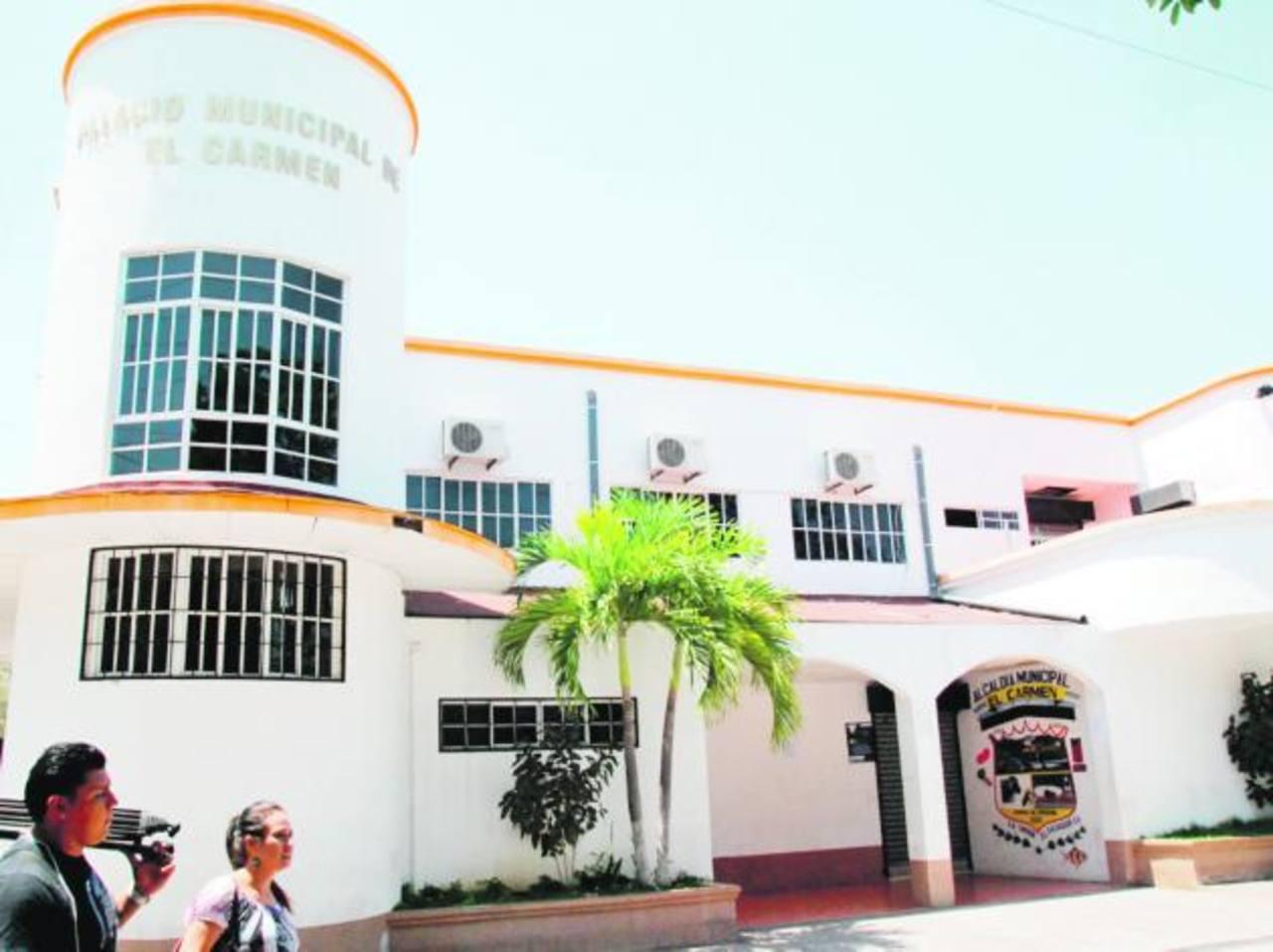 La municipalidad de El Carmen está cerrada desde el miércoles. Foto EDH/ Insy Mendoza