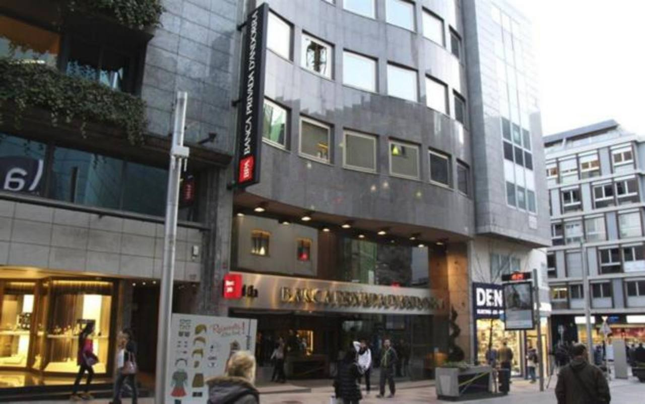 Foto de la sede central de la Banca Privada d?Andorra (BPA), en Andorrra la Vella,intervenida al ser acusada por Estados Unidos de estar involucrada en el lavado de dinero internacional.