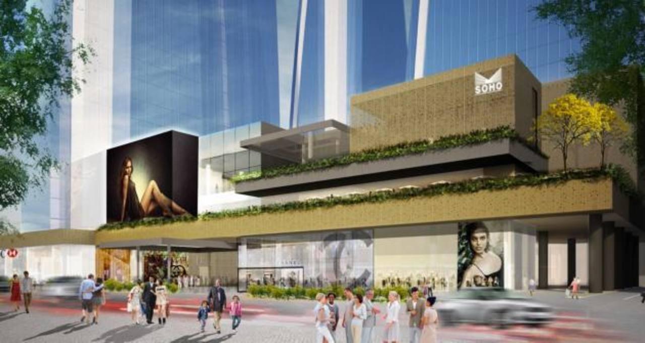 Imagen digital del nuevo Soho Mall Panamá, que tiene cuatro niveles y cuenta con tiendas de marcas exclusivas, algunas de las cuales llegan por primera vez a ese país.