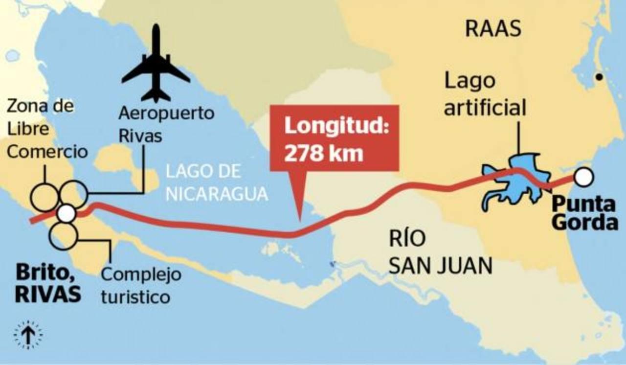 La inversión en el canal inter oceánico supera más de cuatro veces el PIB de Nicaragua, calculado en 12.000 millones.