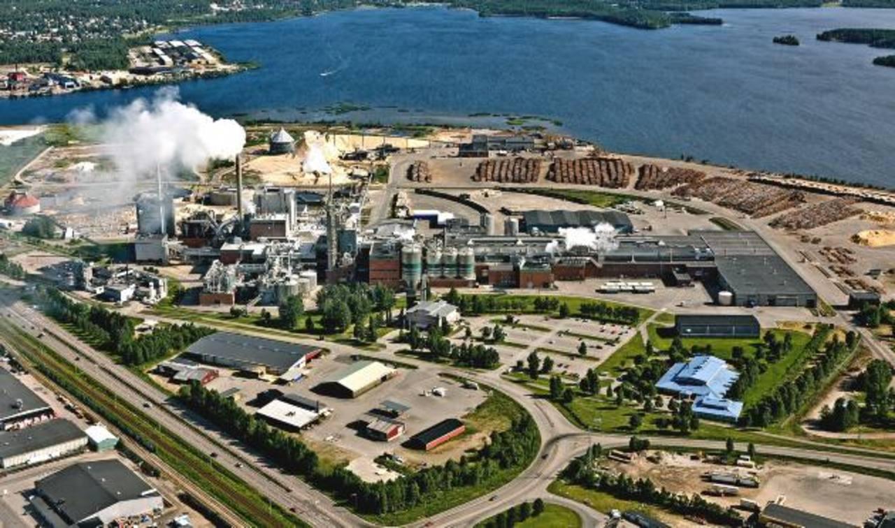 Fábrica de papel de Smurfit Kappa en Piteå, Suecia, con capacidad para 700 mil toneladas al año.