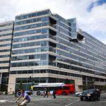 Vista exterior de la sede central del FMI, también conocido como HQ2, en Washington DC, EE.UU.