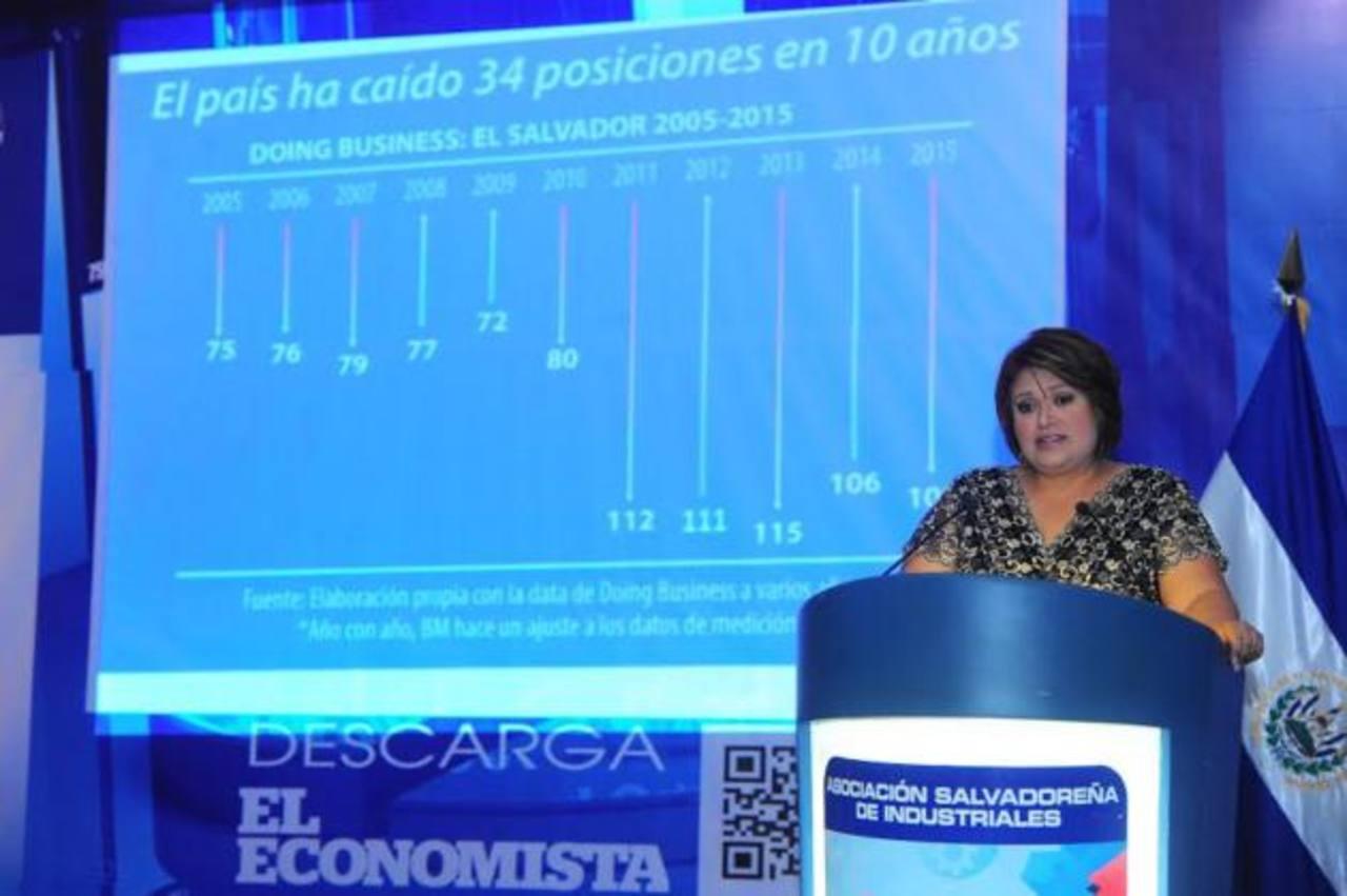 Doris de Rivera, gerente de inteligencia industrial de la ASI. foto edh /René Quintanilla
