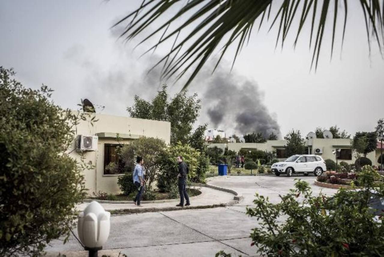 Vista de la explosión en la ciudad de Erbil, Iraq. EDH /EFE