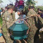El soldado Palacios Molina fue enterrado ayer en Huizúcar.