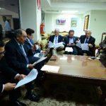 Diputados de la Comisión de Seguridad realizaron ayer las últimas correcciones a la Ley Antiextorsiones. foto EDH / Jorge Reyes