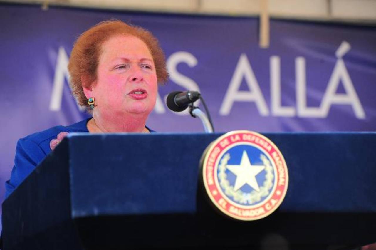 La Embajadora de EE. UU. recordó que el plan de la Alianza del Triángulo Norte es fundamental para la región . FOTO EDH / rené Q