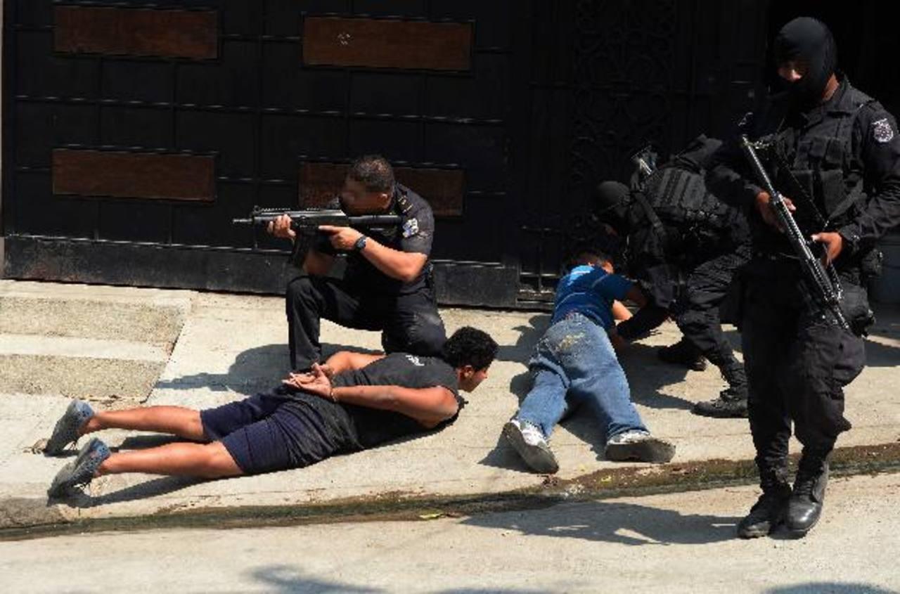 El 12 de febrero, dos cabecillas de pandillas murieron y otros fueron detenidos al enfrentarse a policías en Mejicanos. Foto EDH / Archivo