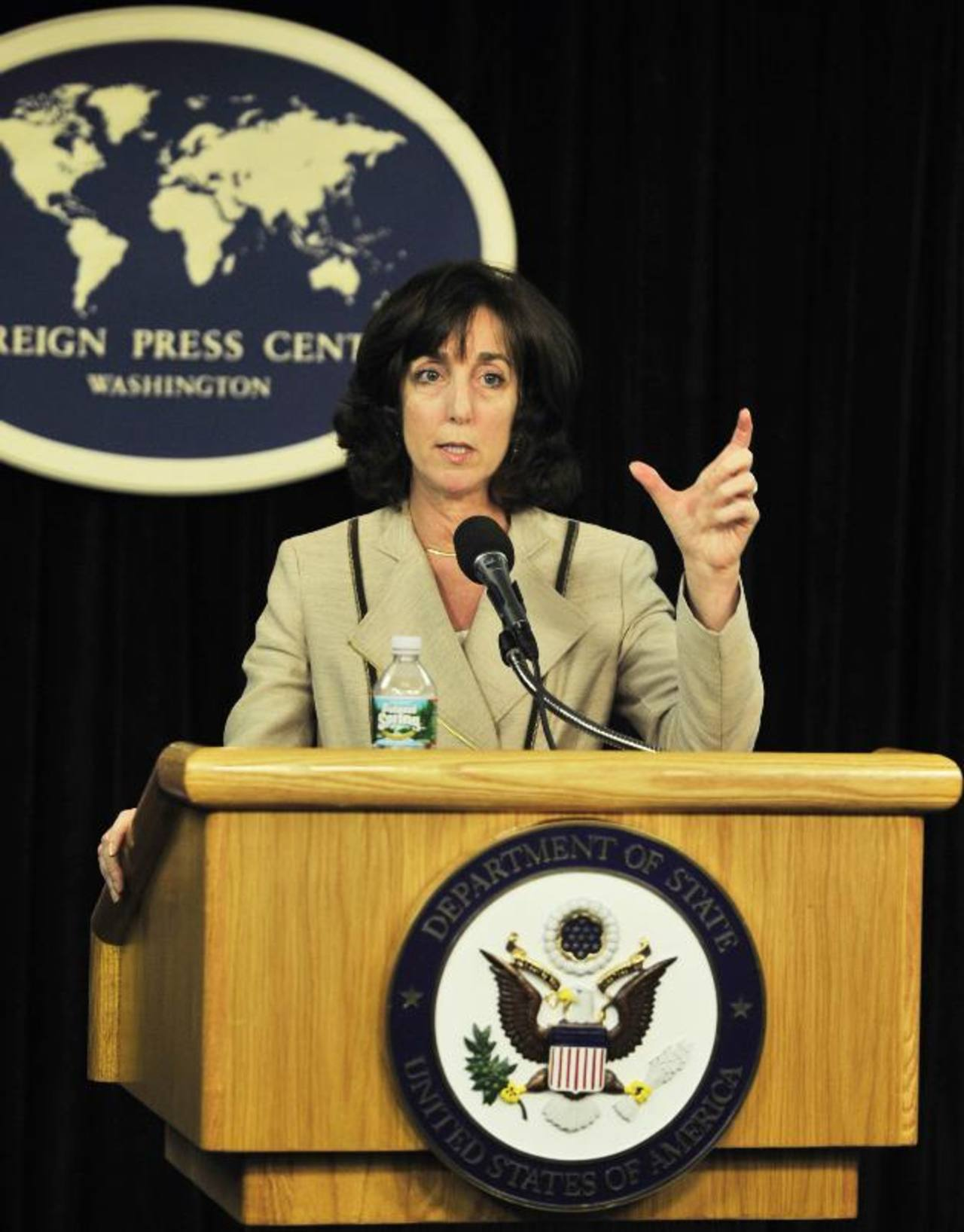Roberta Jacobson, secretaria de estado adjunta de EE. UU. para Latinoamérica, durante una conferencia de prensa en la Casa Blanca, en Washington. Foto EDH /archivo