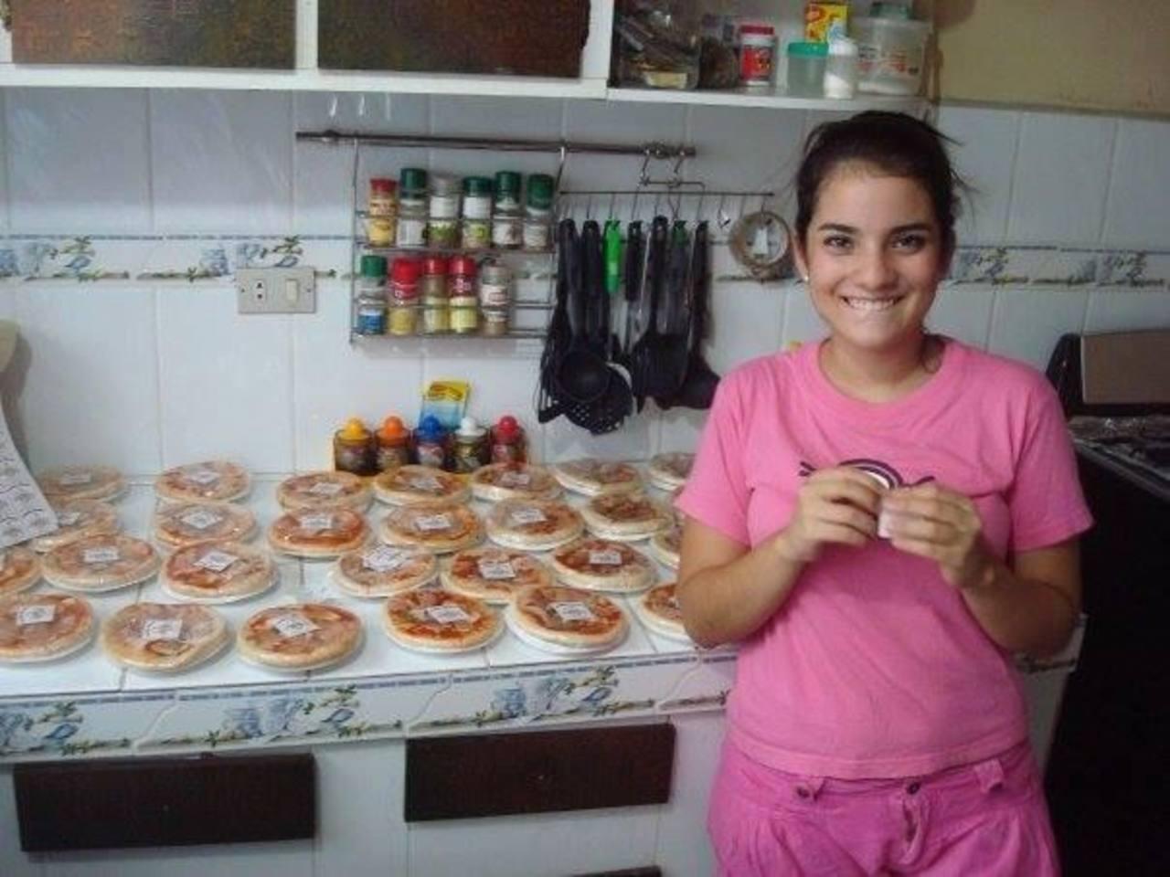 El ejemplo de los padres de Sofía fueron claves para su primer negocio de pizzas.