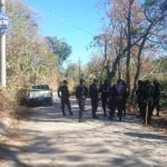 Escena de homicidio de custodio perpetrado en Cuscatlán. /