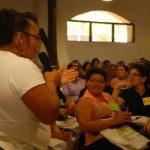 La reunión de las féminas de oriente y zona paracentral se realizó en Ciudad Mujer de San Miguel. Foto EDH / lucinda quintanilla