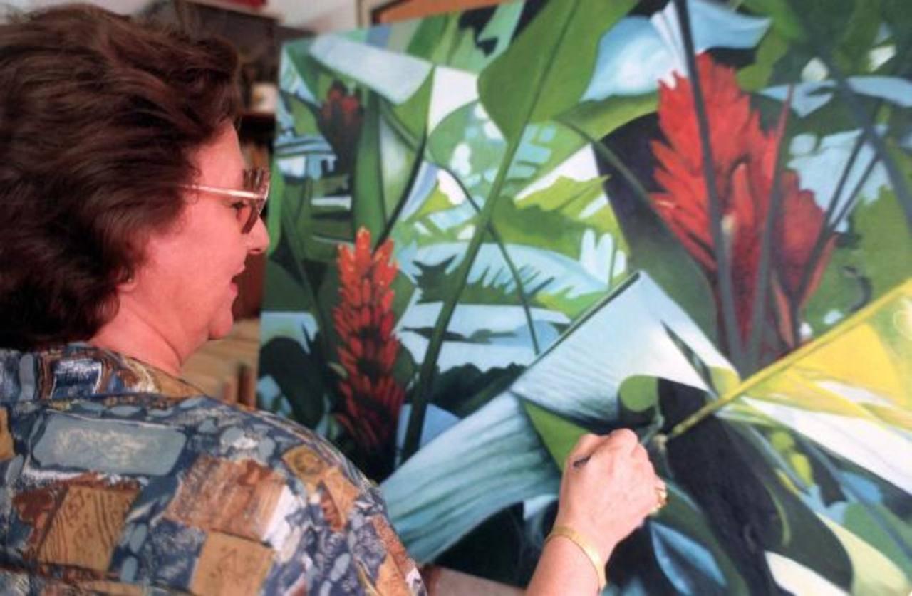 La pintora se destacaba por mostrar la naturaleza y una variedad de paisajes en sus últimas producciones. Foto EDH /Archivo