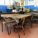 Las necesidades, entre ellas la de mobiliario escolar nuevo, son evidentes en el centro escolar 22 de Junio, de Mejicanos. Foto EDH/ René EstradaLa escuela 22 de junio requiere de materiales para que los docentes trabajen con los niños. Foto EDH/ Ren