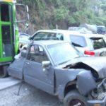 Múltiple accidente en carretera Los Chorros