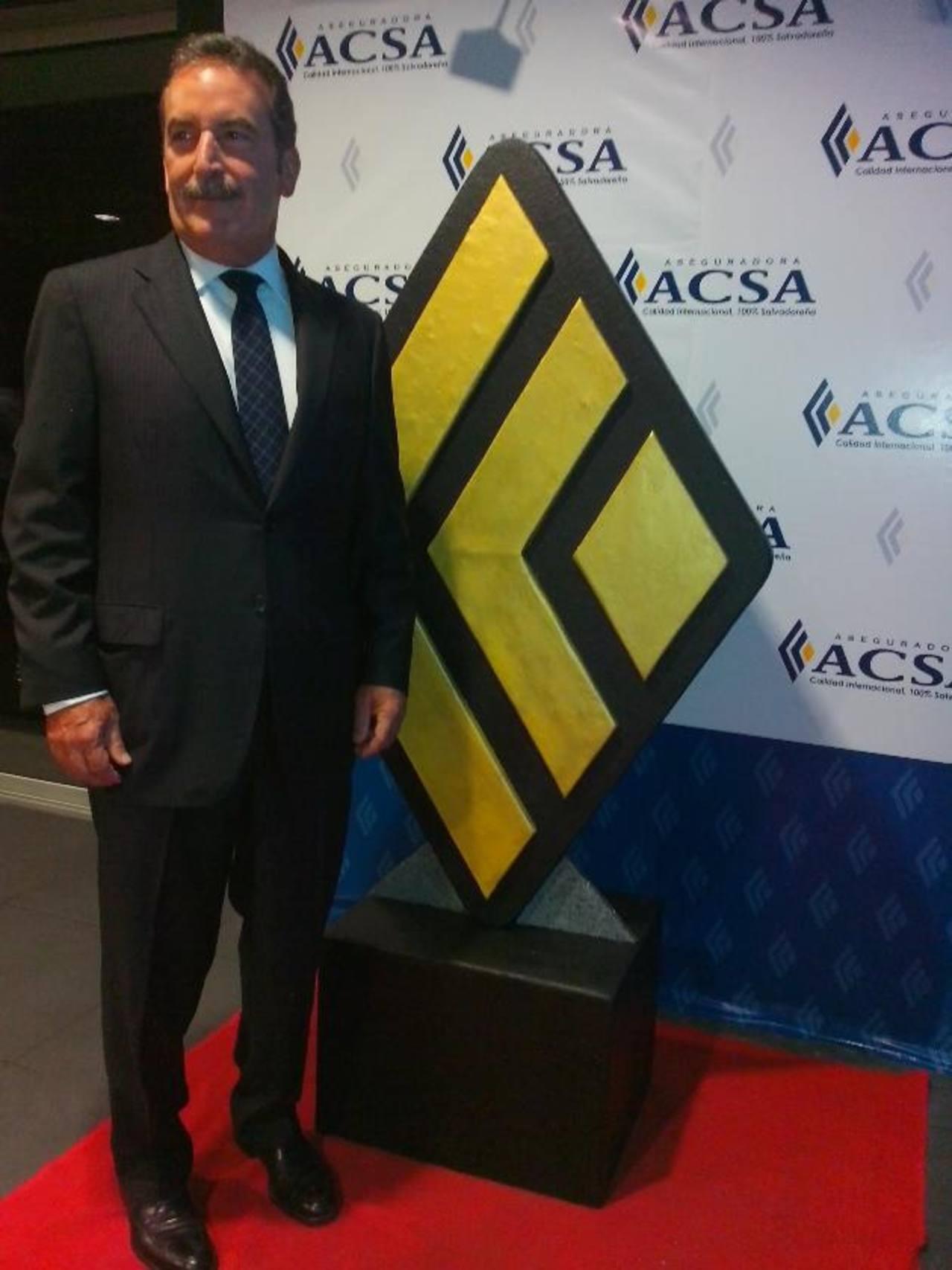 Durante el evento, el presidente de ACSA, Luis Escalante. Foto EDH / Xenia Zepeda