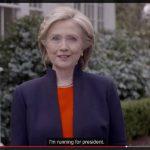 La exsecretaria de Estado estadounidense Hillary Clinton anuncia su candidatura. foto edh / ap