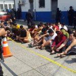 Policía captura a 231 acusados de homicidas y terroristas