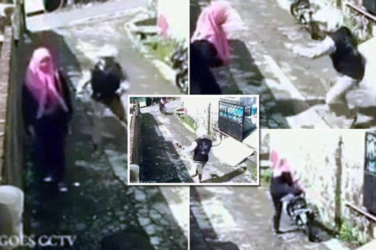 Video: Roba a mujer y ella le quita su moto