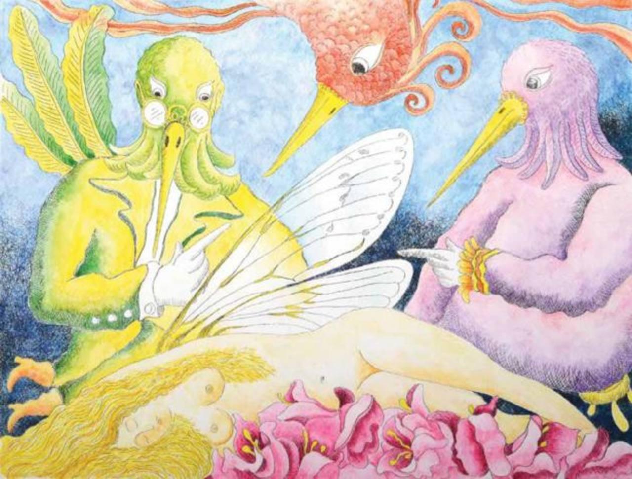 Salvador Llort pone un toque de color y surrealismo a la obra que presenta y que estará en la muestra en el Muna. foto / Cortesía
