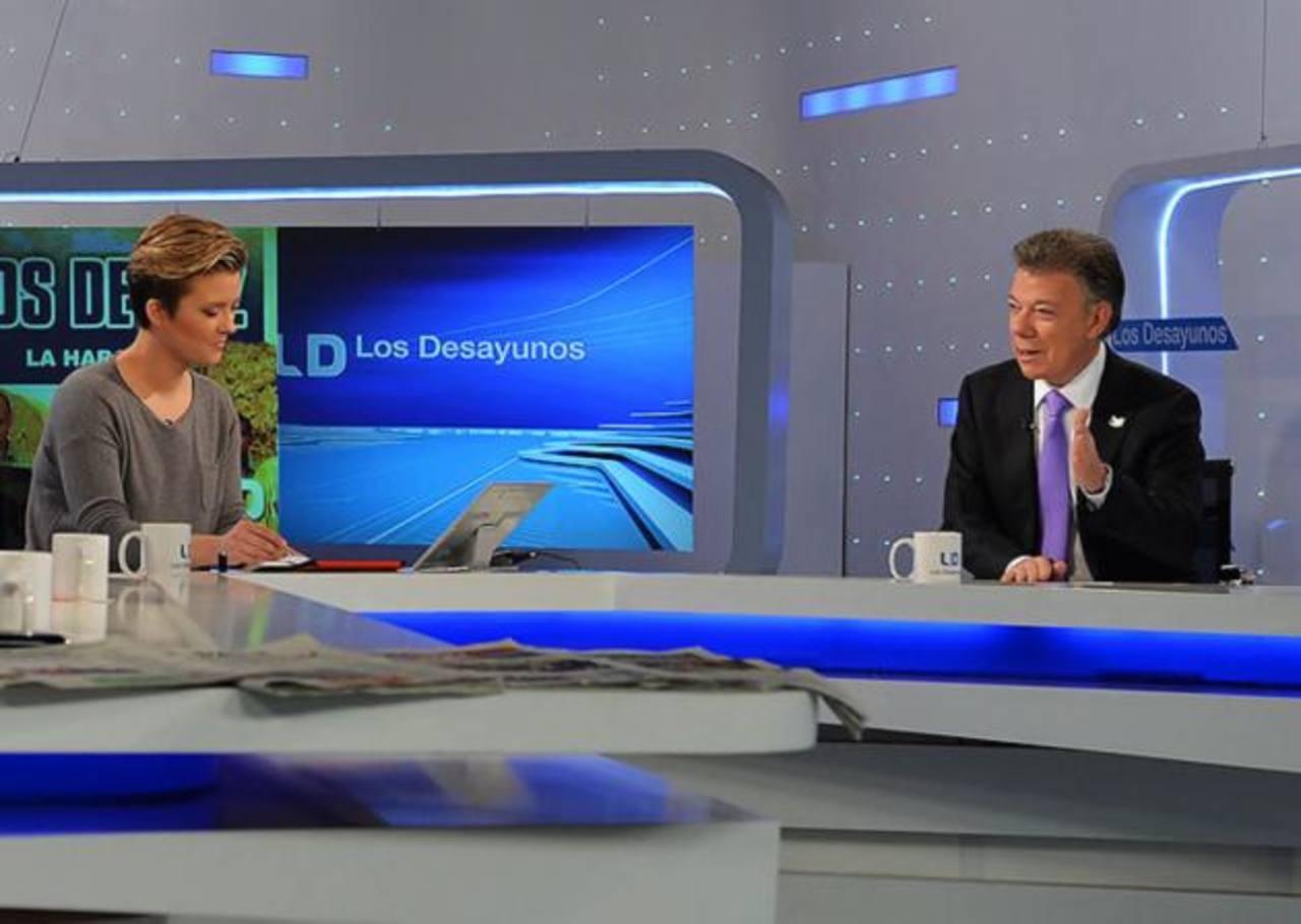 El presidente Juan Manuel Santos participó en un programa de Radiotelevisión Española (RTVE). foto edh / Elpais.com.co