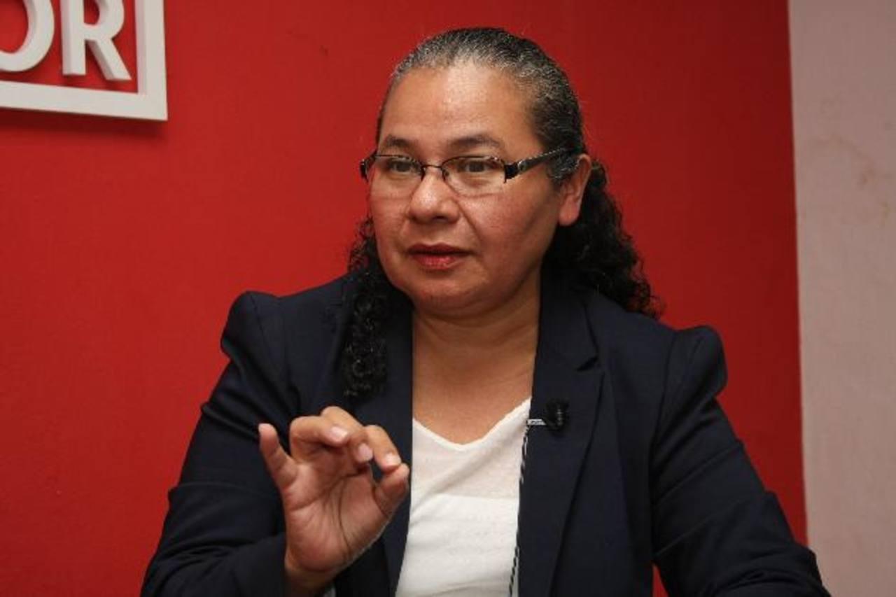 Dafne Sánchez propone reducir la mora judicial que enfrenta la Sala Contencioso Administrativo. Foto EDH / Salomón Vásquez.