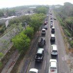 El tráfico se tornó complicado sobre la carretera de Oro por protesta en demanda de agua potable.