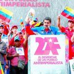 El presidente de Venezuela, Nicolás Maduro ayer durante discurso en un evento en Caracas (Venezuela). foto edh / efe