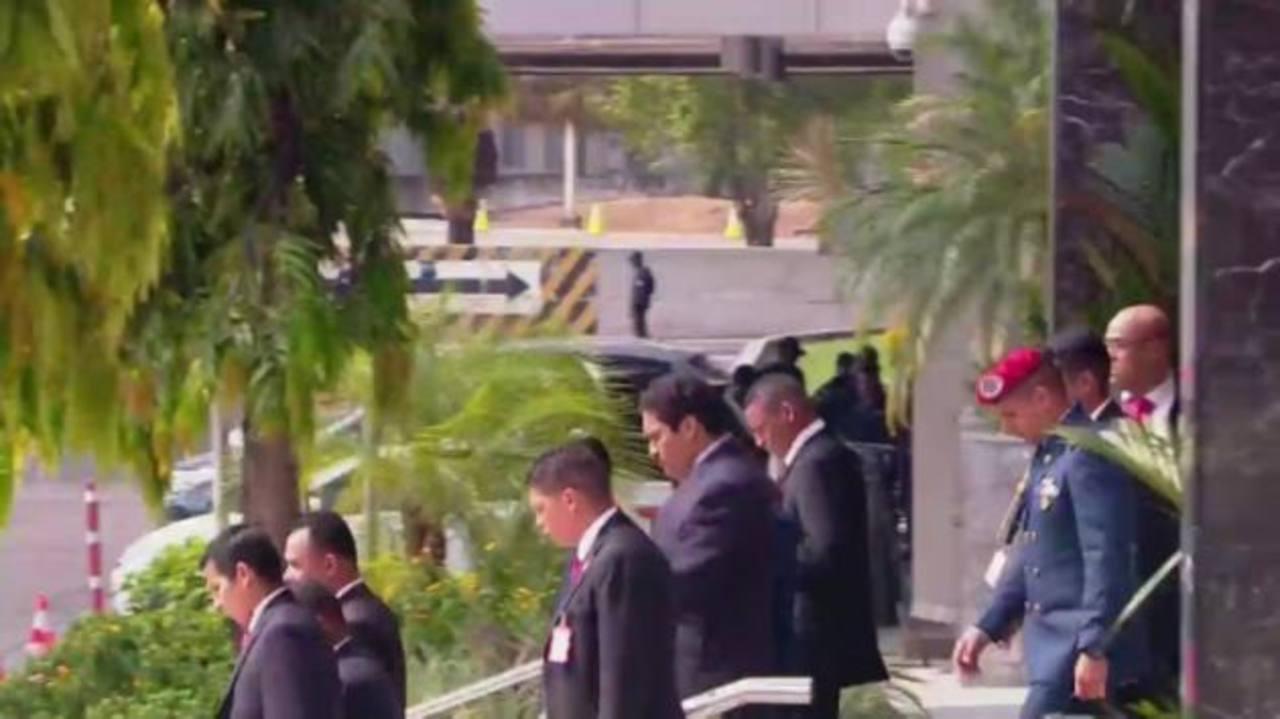 Video: Nicolás Maduro utiliza doble en dispositivo de seguridad en Cumbre de las Américas