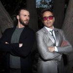 Chris Evans, izquierda, y Robert Downey Jr. en los Estudios Walt Disney.